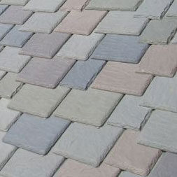 synthetic slate roof tiles